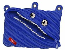 Zipit Zipsters Monster 3 Ring Zipper Binder Pouch Royal Blue