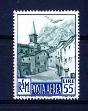 SAN MARINO - PA - 1950 - Veduta £. 55  con leggerissima traccia di linguella