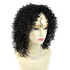 Wiwigs ® Pretty Black Brown Short Curly Summer Style Skin Top Ladies Wig