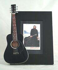 JOHNNY CASH  Miniature Guitar Frame Man in Black