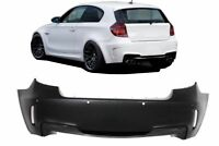 For BMW E81 E87 Rear Bumper Sport M Pack look ABS Plastic bodykit exterior line