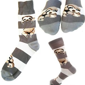 Sloth socks - Lazy slacker sleep lover slow stockings present novelty sock gift