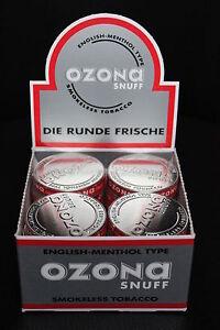 Ozona Snuff Schnupftabak von Pöschl 40 Dosen a 5 gramm Kostenloser Versand OVP