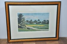 """2/100 Gregory De La Haba """"12th at Flamboyanl"""" Golf Course Painting FRAMED/MATTED"""