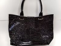 BRAND NEW Black Croc Tote handbag