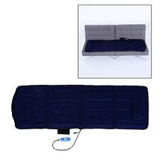 Homcom 10-motor Electric Massage Plush Mat Massager Healthy Heating Comfort Blue