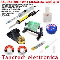 SALDATORE 50W DISSALDATORE 30W POMPA ASPIRA STAGNO FLUSSANTE TRECCIA DISSALDANTE