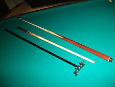 2 NEW Pool Cues Sticks and a Bridge Stick Bar House Maple 4-Prong inlay Straight