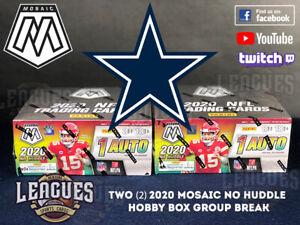 Cowboys | 2020 Panini Mosaic NO HUDDLE Hobby Box Football Two (2) Box Break