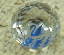 Swarovski 1990 Scs Multi-Faceted Paperweight, 30 mm