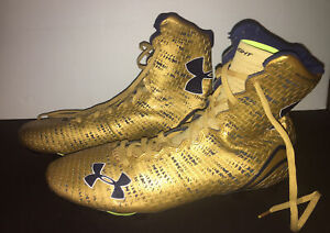 Notre Dame Football Team Issued Under Armour Highlight Clutch Fit Cleats Sz 14