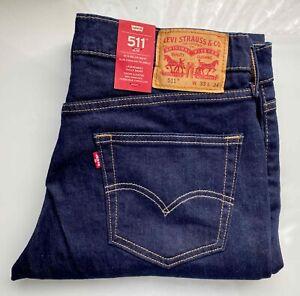 *NEU* LEVI's Original Jeans Denim 511 Slim Fit, 04511-1042, W33 L34, dunkel blau