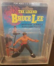 Largo The Legend Bruce Lee Black Bo Staff Figure Afa 85 Ukg New Sealed Moc U85
