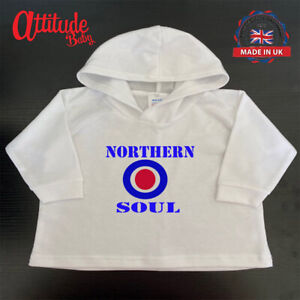 White Baby Hoody-Northern Soul-Mod Baby Clothes-Mod Baby Hoody-Mod Baby Clothing