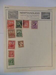 PA 430 - Page Of Mixed Newfoundland Stamps