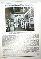 ASBESTOS Insulation of Power Plants Boilers JOHNS-MANVILLE 1948