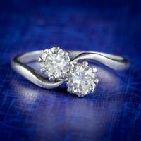 ANTIQUE EDWARDIAN DIAMOND TWIST RING PLATINUM 0.80CT OF DIAMOND CIRCA 1910
