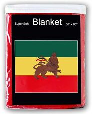 "Ethiopia with Lion Flag Fleece Throw Blanket 50"" x 60"" - New Lower Price"