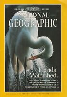 National Geographic July 1990 Florida Watershed, Salmon, Emeralds, Coral, Volcan