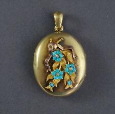❤❤❤  Biedermeier Medaillon - Gold 585 - 14 K - 19. Jahrhundert   ❤❤❤   (# 6003)