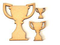 Trophies Wooden MDF craft shape, embellishment Trophy decoupage Football trophy