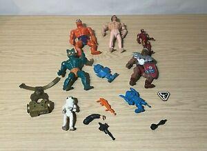 Small Lot Vintage Action Figures + Parts - MOTU Transformers Super GI Joe Vest