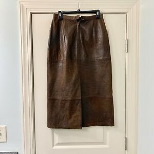Vintage Banana Republic Midi Leather Skirt 10