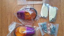 Flush Mount Motorcycle Fairing Indicators purple Body Amber Lens Bike Honda UK