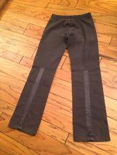 Designer Diesel 28 Pants Jeans Trousers Slacks Gray Cord Satin Straight Leg