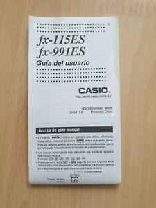 Gebrauchsanleitung / Guía del usuario CASIO fx-115ES + fx-991ES Taschenrechner