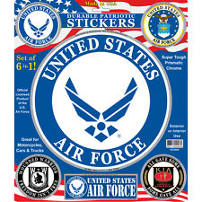 United States Air Force Set of 6 in 1 Patriotic Car Decals