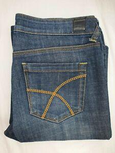 Lee rider jeans 'bumster' Size 11 flare blue denim