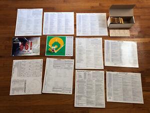 Big Lot Original APBA Major League Baseball 62' Player Cards Dice Charts Boards