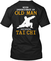 Cool Tai Chi - Never Underestimate An Old Man Who Hanes Tagless Tee T-Shirt
