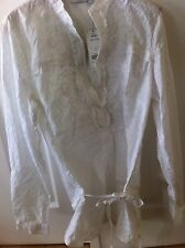 Next size 12 white Embossed Print  blouse New With Tags £25