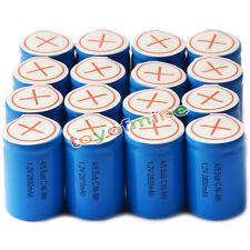 16x Ni-Mh 4/5 SubC Sub C 1.2V 2800mAh Batería recargable con Tab Azul