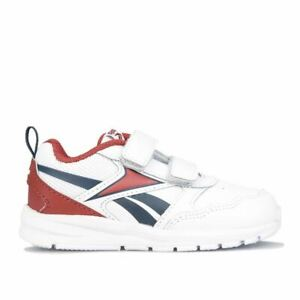 Boy's Reebok Infant Almotio 5.0 2V Hook and Loop Strap Trainers in White