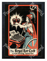 Historic The Royal Bar-Lock typewriter, 1900s  Advertising Postcard 1
