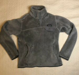 Patagonia Women's Fleece Pullover Jacket, Gray, Size Small