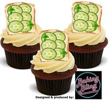Novelty Cucumber Sandwich Edible Stand Up Cake Toppers Decoration Cricket Summer
