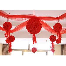 10PCS Flower Kissing Ball Wedding Silk Rose Party Pomander Decoration Satin NEW