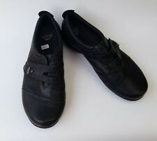 Abeo Shoes Flats Black Comfort Slip On Leather Aiko Womens Size 9.5