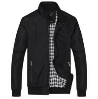 Fashion Men's Jacket Slim Collar Fit Cotton Coat Fashion Casual Outwear Jacket