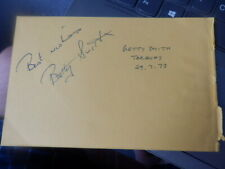Betty Smith - Patrick Barr - + 1 Other - Autograph - 1973