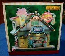 "Lemax 7"" Prelit LED 'Cabin Canteen' Christmas Village Lighted Building- NIB NRFB"