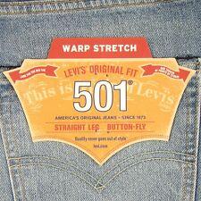 Levis 501 Jeans Original  New Mens Size 36 x 32 LIGHT BLUE STRETCH Levi's NWT