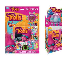 Trolls Trading Card Game Starter Pack Binder Mat Pop up Hair Chalk Licensed Topp