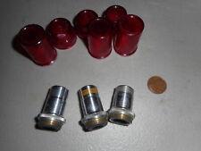 New listing Lot of 3 Vintage Spencer Microscope Lenses