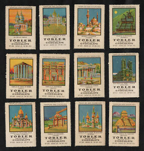 Churches & Temples Tobler Stamp Card Set 1922 Mosque Bagdad Turkey Russia Egypt