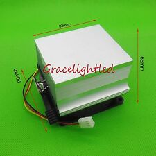 1pc Aluminium Heat Sink Cooling Fan 20W 50W 100W High Power Led Light 80*83*65mm